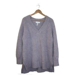 Addition Elle Plus Size V-neck Chunky Knit Sweater